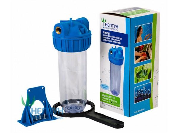 """Корпус для фильтра (прозрачный) Нептун BP-10, 1"""""""