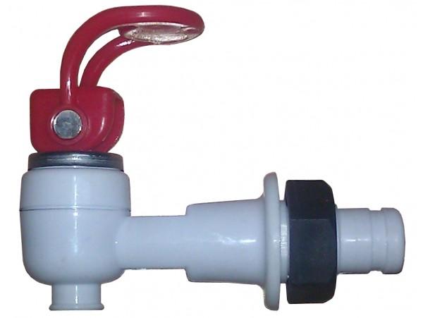 Кран горячей воды с гайкой (верхний нажим)